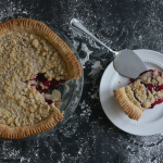 Cranberry Cherry pie and slice
