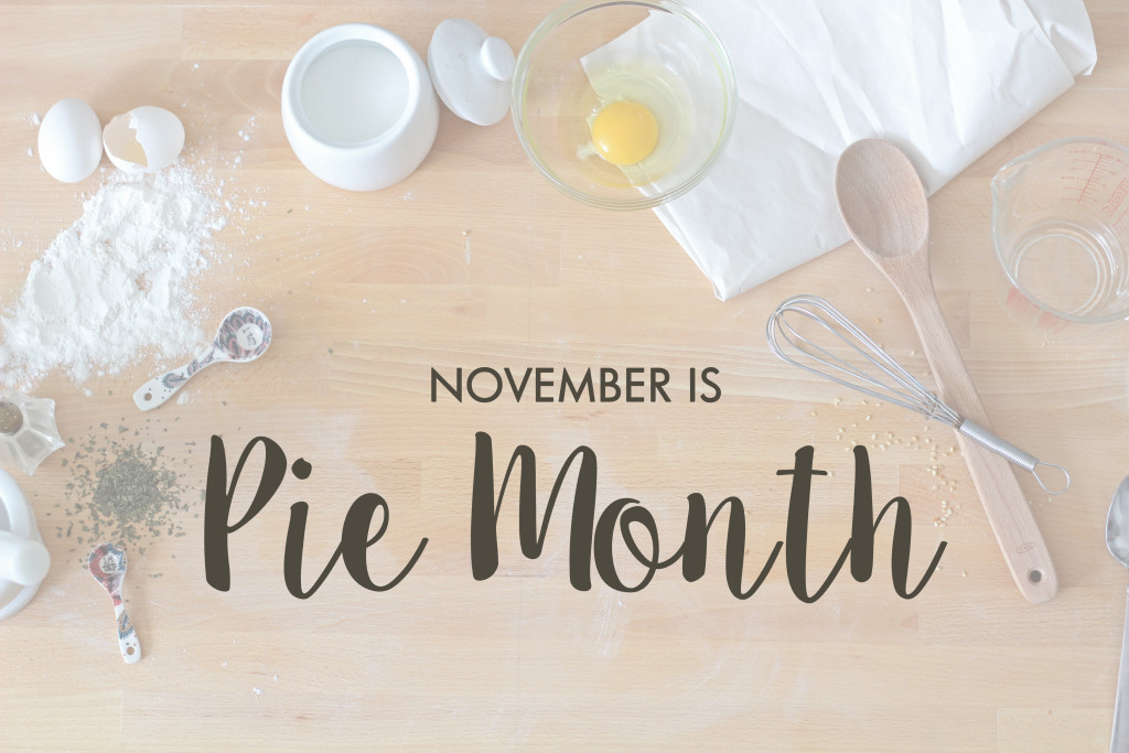 pie month header