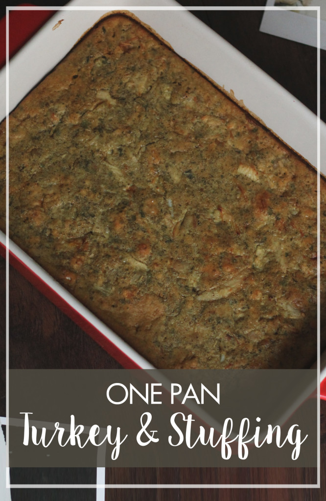 One Pan Turkey and Stuffing Header